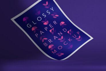 Glossy Flyer Paper Free Mockup