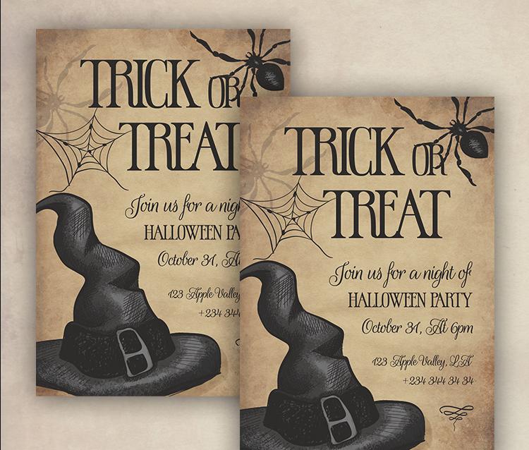 Halloween Invitation Free Flyer Template (PSD)