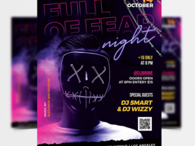 Halloween Party 2021 Free Flyer Template (PSD)
