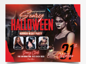 Halloween Party Free Flyer Template (PSD)