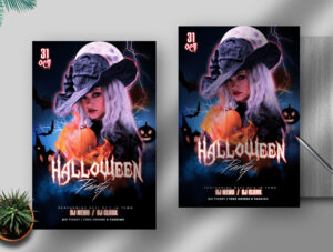 Halloween Party Night Free Flyer Template (PSD)
