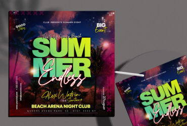 Summer End Party Free Instagram Banner (PSD)