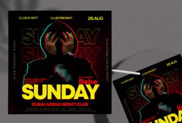 Sunday Event DJ Free Instagram Banner (PSD)