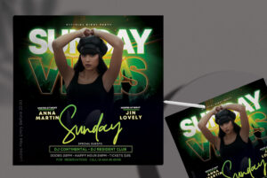 Sunday Music Party Free Flyer Template (PSD)
