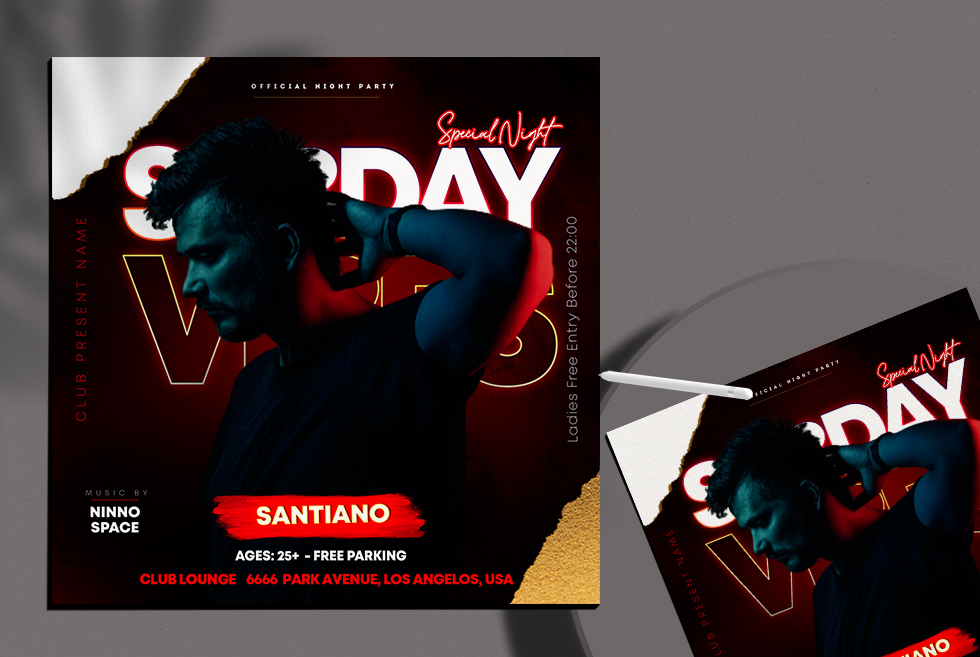 Sunday Vibes Free Instagram Post Template (PSD)