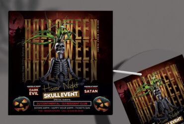 The Halloween Party Free Flyer Template (PSD)