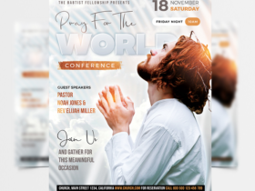 White Church Event Free Flyer Template (PSD)