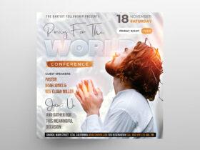White Church Event Free Instagram Banner (PSD)