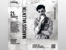 White DJ Event Free Instagram Post Template (PSD)